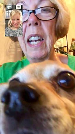 Skying with grandma and nico!