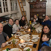 From left to right around the table: Arie's dad Yoav, Arie, Liana, Bryna, Arie's nephew Max, Arie's mother Riki, Shelley, Yoav's wife Sundar and their son Lior