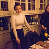 Liana & Bryna in the wine room of the Freemans Restaurant