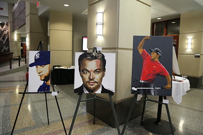 "All works by Marc Schwartz, (From Left to Right) ""The Captain"", ""Leo"", ""Augusta National."""