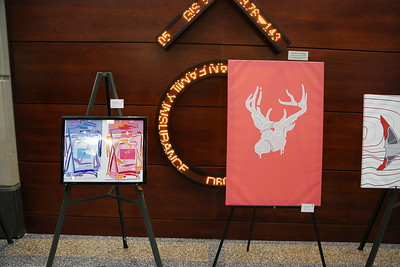 "(From Left to Right) ""Perfume"" by Casey Haas,  ""Deer"" by Nathan Mueller"