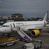 Vueling Airbus A320 EC-LZZ at London Luton with my flight to Amsterdam, VY8405.