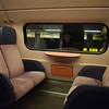 Nederlandse Spoorwegen VIRM double deck EMU upper deck interior at Amsterdam Schipol Airport.