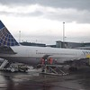 United Airlines Boeing 767-300 N655UA at Amsterdam Schipol Airport.