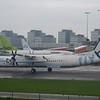 FlyBe Bombardier Dash-8 Q400 G-ECOP at Amsterdam Schipol Airport.