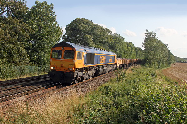 66730 Micheldever 19/08/17 6G15 Eastleigh to Vauxhall