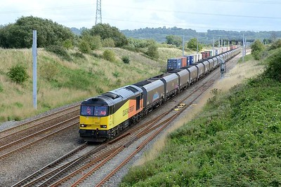 18 August 2017 :: A Tug on a coal train is certainly worth seeing so at Pilning I photographed 60047 with 6B22 from Avonmouth to Aberthaw