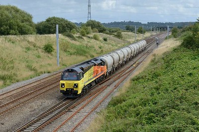 18 August 2017 :: 70811 is at Pilning working 6C36, the empty cement train from Westbury to Aberthaw