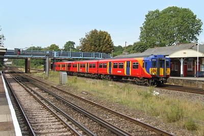 5873 Hook 26/08/17 5B60 Eastleigh to Wimbledon