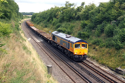 66773 Popham 23/08/17 6G17 Vauxhall to Eastleigh East Yard