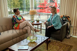 19324 Seth Bauguess, Cheryl Schrader meets Central State President Cynthia Jackson Hammond 8-18-17