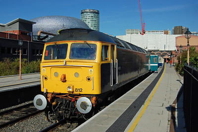 Prominent features of the Birmingham skyline from several different eras collide in this view of 47812 at Moor Street station shortly before the departure of 1Z18 (27/08/2017)