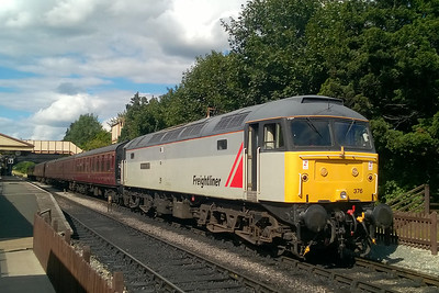 47376 is pictured again later that afternoon at Toddington before departing with the 1555 to Cheltenham race Course (15/08/2017)