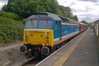 Another view of 47715 whilst waiting time at Leyburn with the 1230 from Leeming Bar to Redmire (06/08/2017)