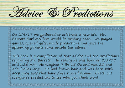 Advice & Prediction Book - Page 001