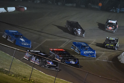 Darrell Lanigan (14), Scott Bloomquist (0), Brandon Sheppard (B5), Hudson O'Neal (71), Zach McMillan (14Z), Morgan Bagley (14)M) and Logan Martin (36)