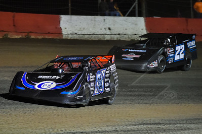 Scott Bloomquist (0) and Gregg Satterlee (22)