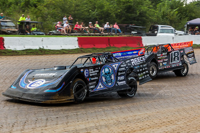 Scott Bloomquist (0) and Jack Sullivan (18)