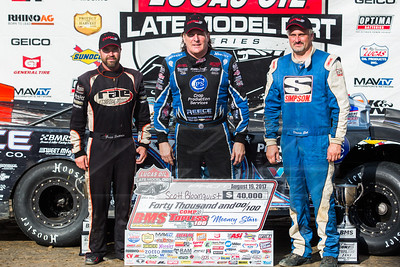 Scott Bloomquist (C), Gregg Satterlee (L) and Dennis Erb, Jr. (R)