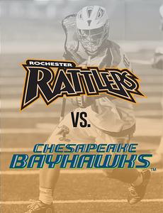 MLL: Chesapeake Bayhawks @ Rochester Rattlers