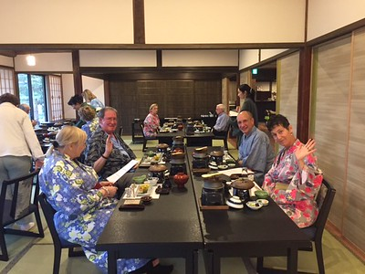 Enjoying a traditional Kaiseki dinner.-Jessica Mathewson