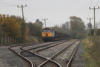 56301 Foxton Exchange Sidings 15/11/17 6L74 Wembley to Barrington