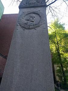 John Hanhock gravesite detail