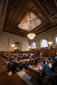 The Rose Reading Room in the New York Public library.