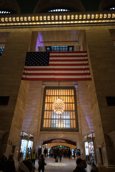 The flag in Grand Central.