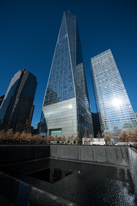 The Freedom Tower and the 911 Memorial.