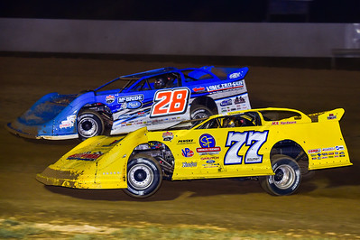 Adam Bowman (77B) and Dennis Erb, Jr. (28)