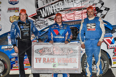 Scott Bloomquist (L), Brandon Sheppard (C) and Dennis Erb, Jr. (R)