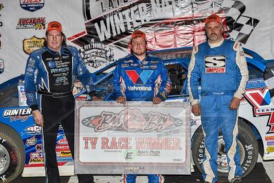 Scott Bloomquist (L), Brandon Sheppard (C) and Dennis Erb, Jr. (R)