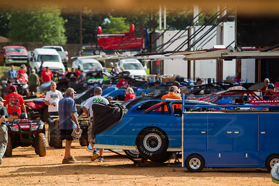 Cherokee Speedway pit area