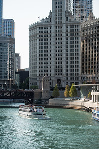 The river in downtown Chicago.
