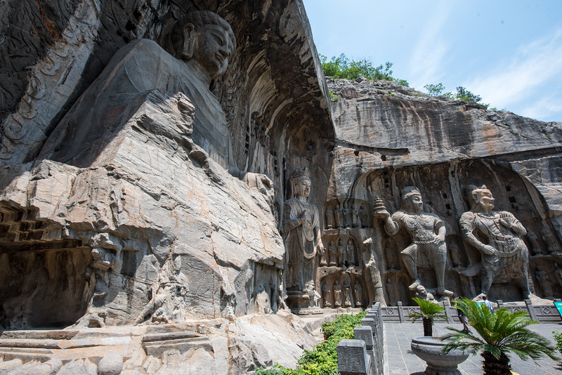 The largest cliff carving in Luoyang.