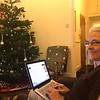 Shelley relaxes and catches up on email and Facebook