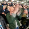 Wild exuberance in the stands at another Newcastle goal. The Giordies (what the folks from Newcastle call themselves) prevailed 3 - 2 over West Ham