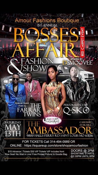 Chuck Pfoutz Presents: Amour Fashion Boutique Boss Affair Fashion Show 2017