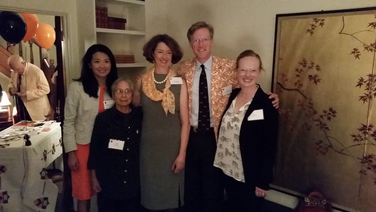 Professor Loo and Dr. Cheng with Lauren,  John and Haley