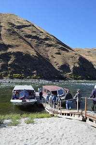 Setting out on a jet boat ride through Hells Canyon - Cathy Phillips