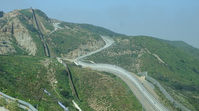 View of the triple wall - Ensenada Scenic Road - Tijuana, Mexico