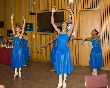 """Members of the Newburgh Performing Arts Academy ensemble """"Expressions"""" perform during the City of Newburgh Human Rights Commission sponsored Second Annual Black Pioneers of Newburgh at the Newburgh Free Library on Saturday, February 18, 2017. Hudson Valley Press/CHUCK STEWART, JR."""