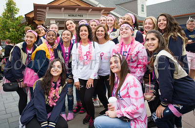 Newburgh Free Academy students joined thousands of people, including cancer survivors, their families and businesses, in the annual American Cancer Society Making Strides Against Breast Cancer walk at Woodbury Common Premium Outlets in Central Valley, NY on Sunday, October 15, 2017. Hudson Valley Press/CHUCK STEWART, JR.
