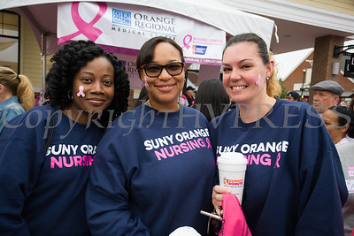 SUNY Orange Nursing students joined thousands of people, including cancer survivors, their families and businesses, in the annual American Cancer Society Making Strides Against Breast Cancer walk at Woodbury Common Premium Outlets in Central Valley, NY on Sunday, October 15, 2017. Hudson Valley Press/CHUCK STEWART, JR.