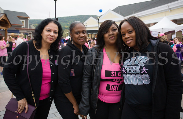 Nurses from Nyack Hospital joined thousands of people, including cancer survivors, their families and businesses, who participated in the annual American Cancer Society Making Strides Against Breast Cancer walk at Woodbury Common Premium Outlets in Central Valley, NY on Sunday, October 15, 2017. Hudson Valley Press/CHUCK STEWART, JR.
