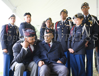 Buffalo Soldier Clarence Hoggard at the Buffalo Soldiers Association of West Point hosted 56th Memorial Ceremony at the United States Military Academy in West Point, NY at Buffalo Soldier Field on Sunday, September 3, 2017. Hudson Valley Press/CHUCK STEWART, JR.