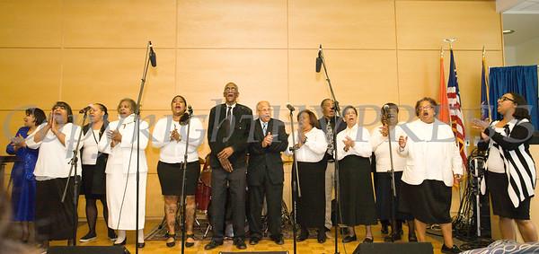 The Ebenezer Baptist Church Sanctuary Choir performs at Choral Sunday, sponsored by SUNY Orange in Newburgh, NY on Sunday, May 7, 2017. Hudson Valley Press/CHUCK STEWART, JR.