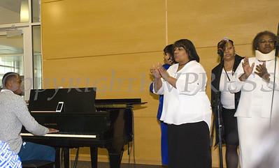 Bro. Parish Brice plays the piano as the Ebenezer Baptist Church Sanctuary Choir performs at Choral Sunday, sponsored by SUNY Orange in Newburgh, NY on Sunday, May 7, 2017. Hudson Valley Press/CHUCK STEWART, JR.