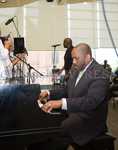 Pianist Chris McDonald joins the Mount Carmel Choir of the Mount Carmel Church of Christ Disciples of Christ as they perform at Choral Sunday, sponsored by SUNY Orange in Newburgh, NY on Sunday, May 7, 2017. Hudson Valley Press/CHUCK STEWART, JR.